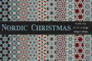 Nordic Christmas Background Patterns