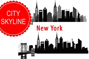 New York vector skyline