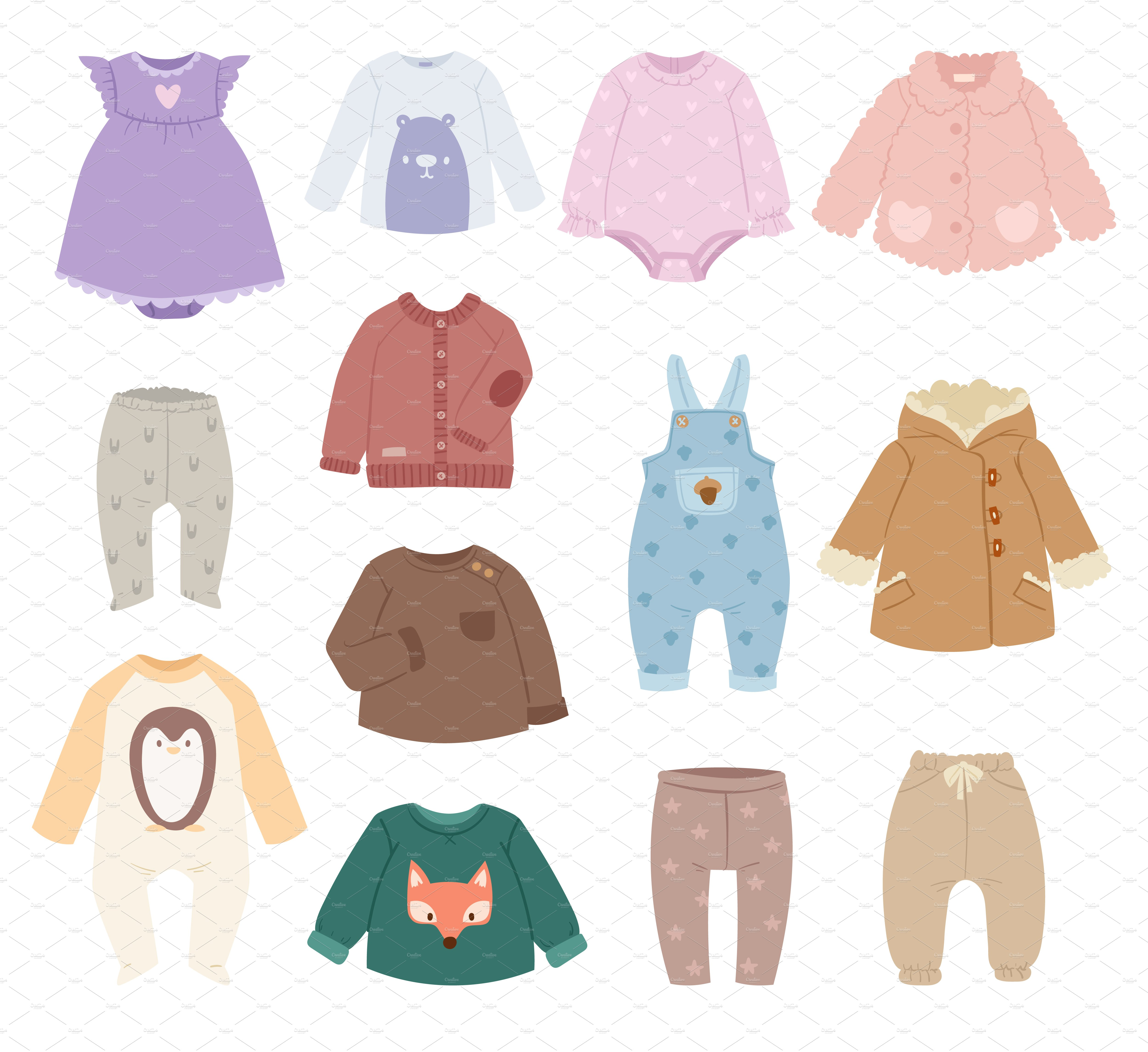 baby accessories clothes vector illustrations creative market