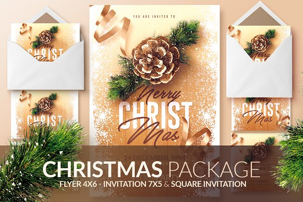 Christmas Invitations - Psd Packag…