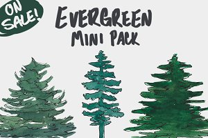 Evergreen Trees - Mini Pack