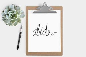 Abide in Me Print - (5x7, 8x10)