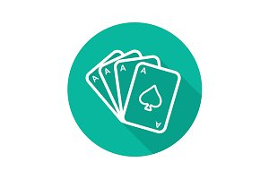 Poker ace quads icon. Vector