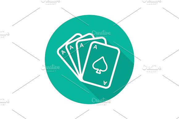 Poker Ace Quads Icon Vector