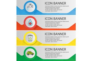 Ecology banner templates. Vector