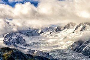 Franz Joseph glacier from the air