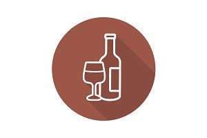 Wine icon. Vector