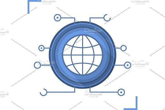 Global Network Communication Vector