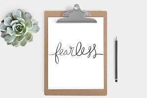 Fearless Print (5x7, 8x10)