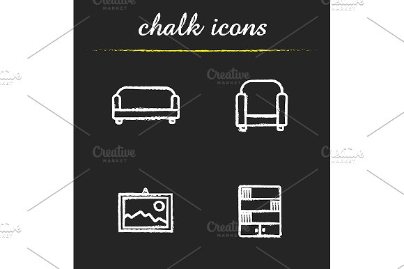 Interior. 4 icons. Vector - Icons