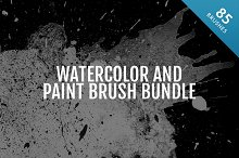 Watercolor and Paint Brushes Bundle