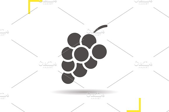 Bunch of grapes icon. Vector - Icons