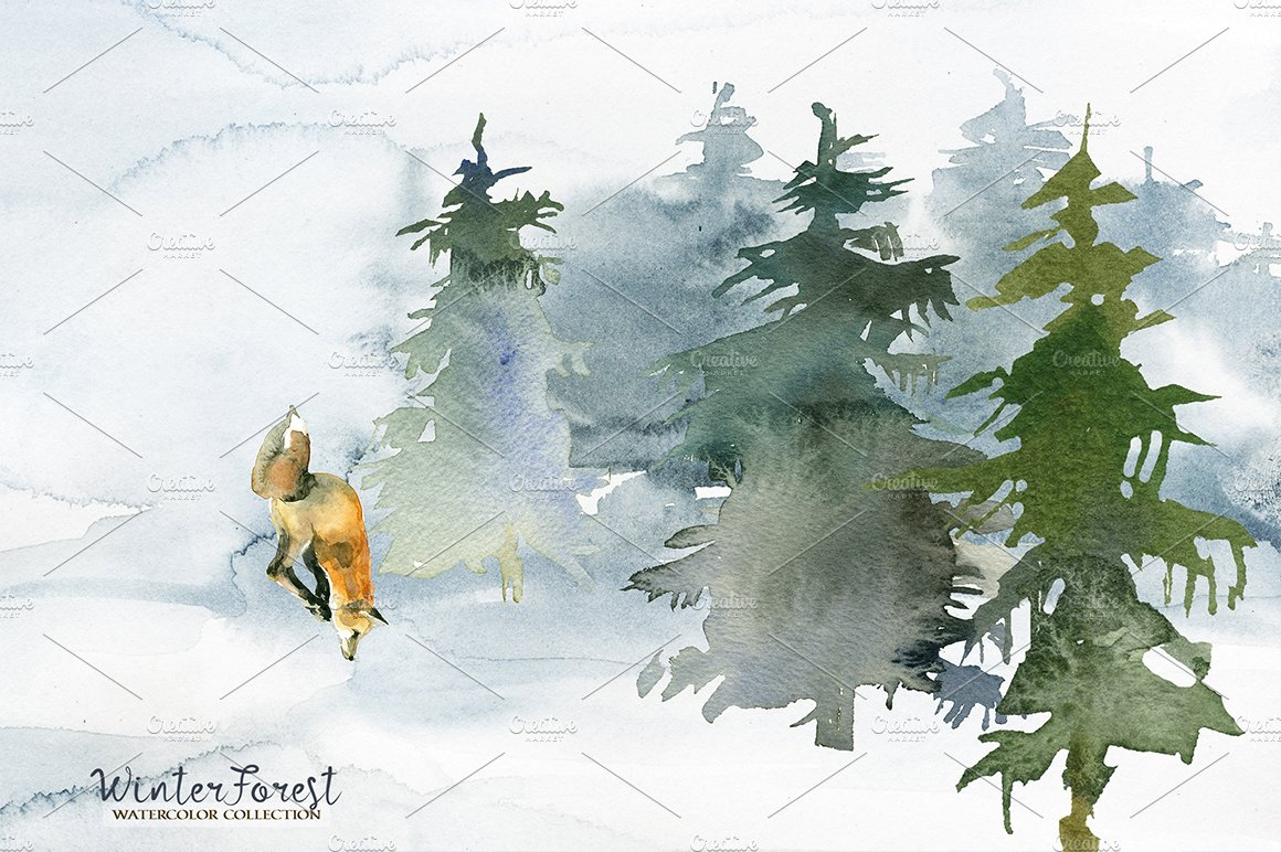 forest fir trees watercolor clipart creative daddy forest fir trees watercolor clipart