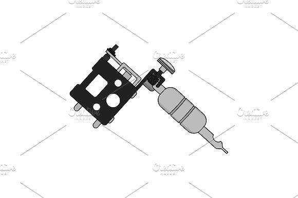 Tattoo machine illustration. Vector - Illustrations