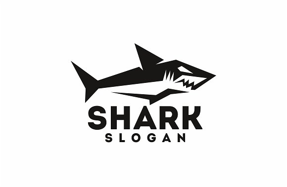 shark logo templates creative market