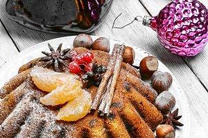 Tangerine Christmas cupcake