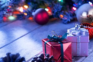 gifts and boxes