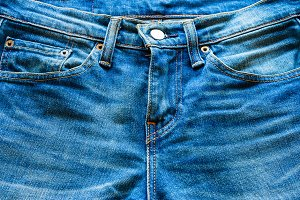 blue jeans closeup
