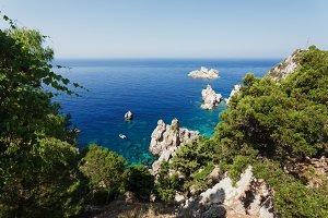 Sea view. Corfu Island, Greece.