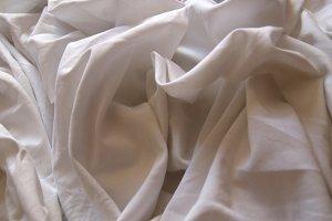 white wrinkled sheet