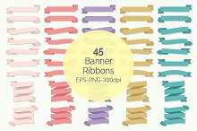 Banner Ribbons Clipart Set