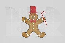 3d illustration. Christmas Cookie.