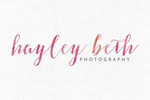 Hayley Beth Premade Logo Template