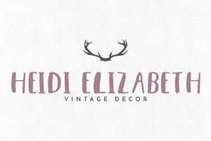 Heidi Elizabeth Premade Logo Design