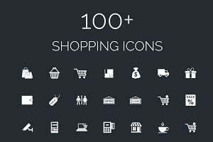 100+ Shopping Vector Icons Pack