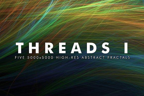 Threads I Fractal Background Art