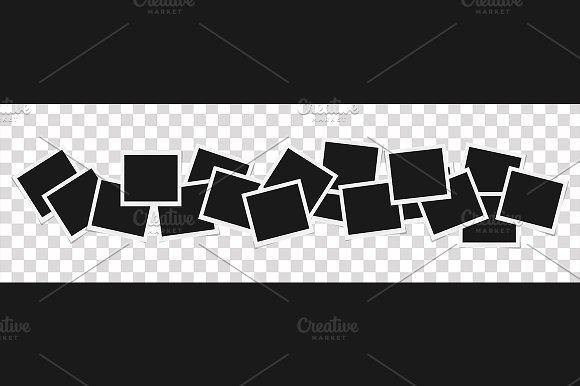 Set of vector photo frames