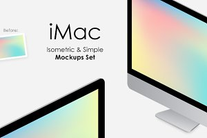 iMac Isometric & Simple Mockups Set
