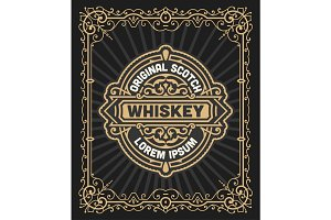 Retro logo for Whiskey