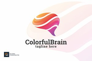 Colorful Brain - Logo Template