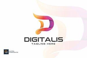 Digitalis - Letter D Logo