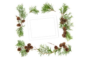 Tablet pc Christmas decoration JPG
