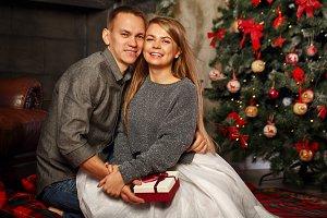 Couple and Christmas.