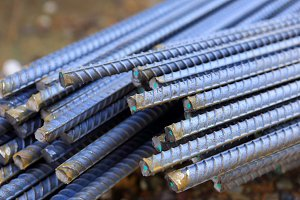 Steel rod for construction