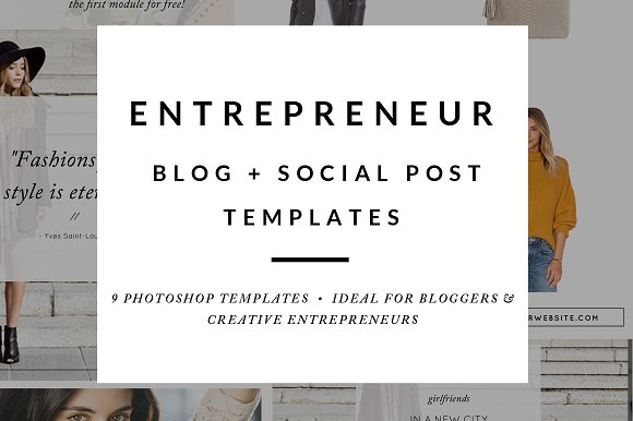 Blog Post Social Media Templates Web Elements Creative Market