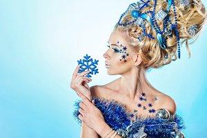 Girl hair style Christmas