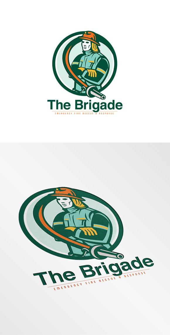 brigade emergency fire rescue logo logo templates creative market