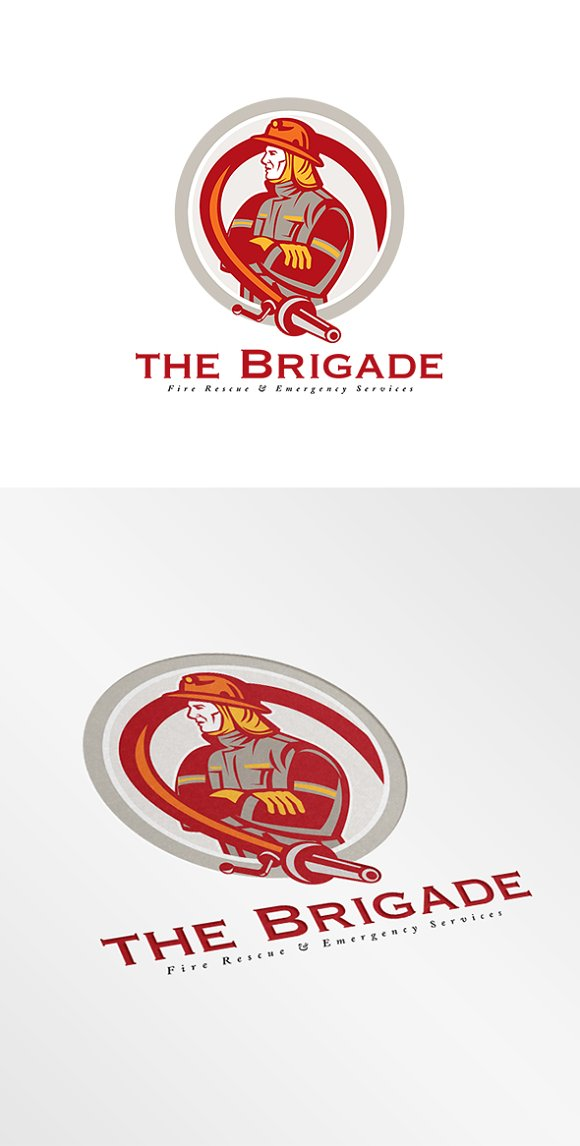 brigade emergency fire services logo logo templates creative market