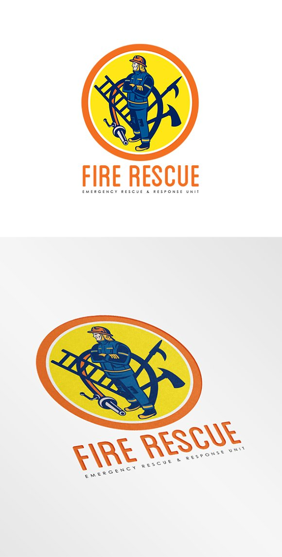 fire rescue logo logo templates creative market