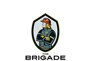 The Brigade Fire Rescue Team Logo