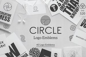 Circle Logo Emblems Bundles