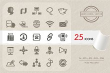Communication icons set. Vector