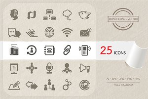 Communication icons set. Vector