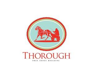 Thorough Race Horse Breeders Logo