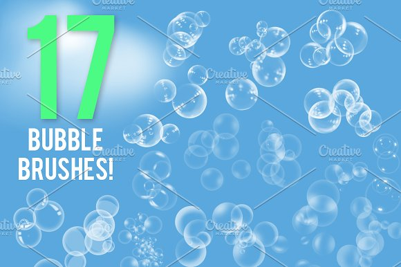 17 Bubble Brushes Pack
