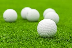 golf ball on green course